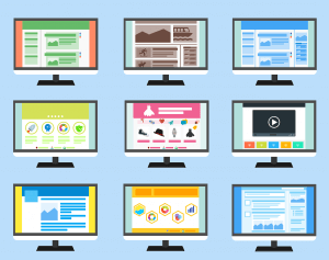 various colourful website templates