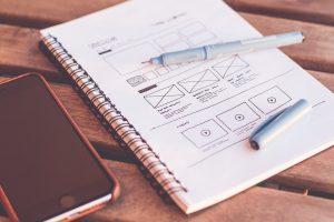 web design plans on paper