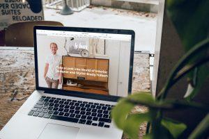 a website on a mac book