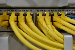yellow networking cables