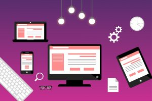 responsive websites on mobile and laptop